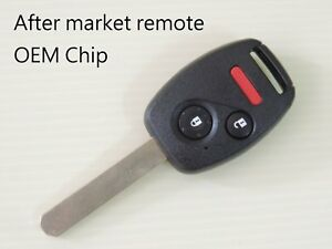 New Uncut Key Keyless Remote Fob Oem Chip Transponder Honda 07 11 Element Ke