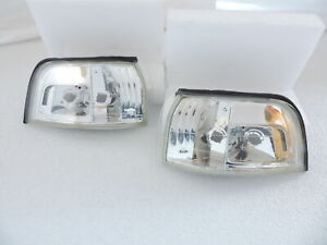New Pair Of Jdm Look Clear Front Corner Lights For 1990 1991 90 91 Honda Accord