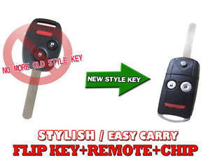Honda 2007 2011 Crv Cr V Flip Key Keyless Remote Fob Chip Transponder