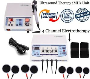 Combination Therapy Ultrasound 1mhz Therapy Four Channel Electrotherapy Unit