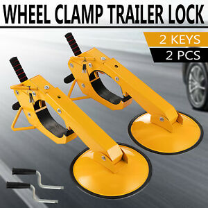 2pcs Wheel Lock Clamp Boot Parking Tire Trailer Anti Theft For Boat Car Truck