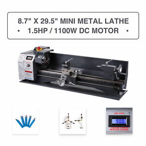 Mini Metal Lathe 8 7 29 5 2250 Rpm 1100w Digital Display Metal Gear 5 Tools
