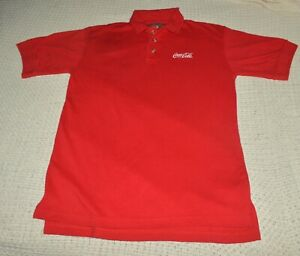 Vintage COCA COLA Polo Shirt Gents Size M Head To Toe Used Excellent Conditions