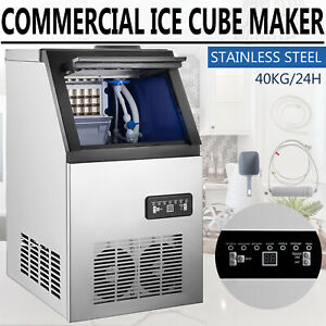 90lbs Built in Commercial Ice Maker Undercounter Freestand Bar Ice Cube Machine