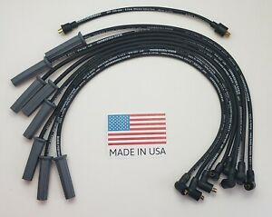Ford Fe 352 390 427 428 Black 8 5mm Spiral Core Spark Plug Wires Points Cap Usa
