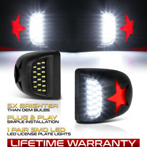 Red Star Led License Plate Light For 00 06 Tahoe Suburban Yukon Xl 1500 2500