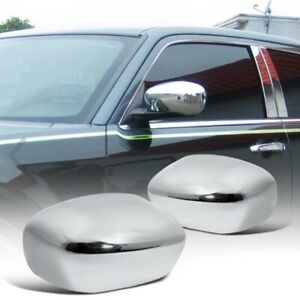 Fit 2005 2010 Chrysler 300 300c Magnum Chrome Side Mirror Covers Overlay