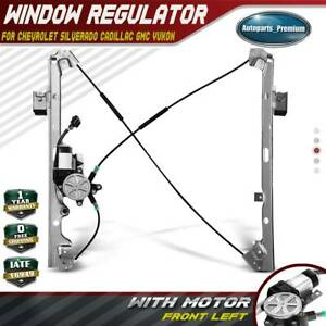 Power Window Regulator With Motor For Chevy Gmc Cadillac Front Driver Side Left