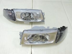 1998 2001 Mitsubishi Lancer Evo 5 6 Chrome Headlights Black Corner Lights