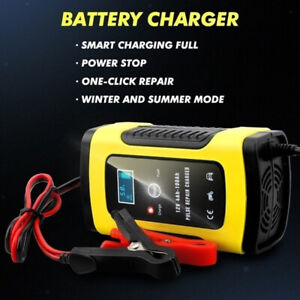 12v 6amp Automotive Smart Battery Charger maintainer For Car Truck Motorcycle