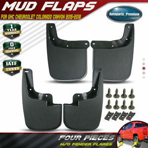4x Splash Guards Mud Flaps For Chevy Colorado Canyon 2015 2019 W O Fender Flares