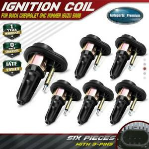 6x Pack Ignition Coils For Chevrolet Colorado Gmc Canyon Envoy Isuzu Saab Uf 303