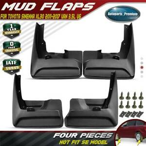 4pcs Splash Guards Mud Flaps Molded For Toyota Sienna 2011 2017 Van Front Rear