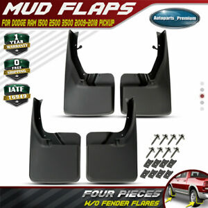 Fits Dodge Ram 1500 2500 3500 2009 2018 2016 Mud Flaps Splsh Guards Front Rear