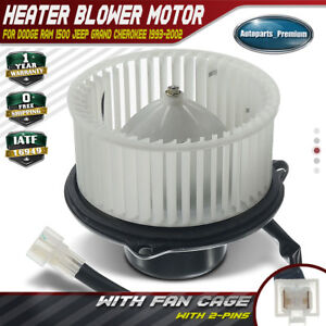 A C Blower Motor For Dodge Ram 1500 2500 Grand Cherokee W Fan Cage Front 700010