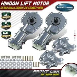 2x Window Motor 12 Tooth Gear For Chevy Gmc Pontiac Buick Front Left Right