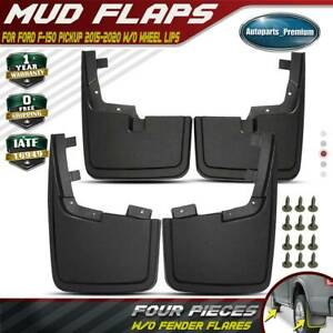 Fits Ford F 150 2015 2020 Without Fender Flares Splash Guards Molded Mud Flaps