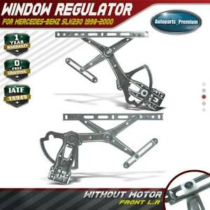 2x Window Regulators W o Motor For Mercedes benz Slk230 98 00 Front Left