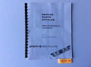 New Holland 390 And 391 Tub Grinders 5 84 Service Parts Catalog