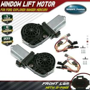 2x Power Window Motor W 9 Tooth For Ford Explorer Ranger Lincoln Mercury Front