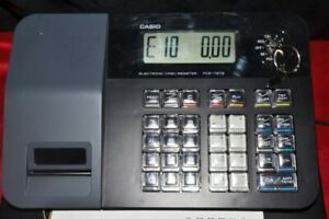 Casio Pcr t273 Electronic Electric Cash Register With Manual And Keys