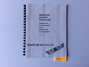 New Holland 393 And 396 Tub Grinder 5 77 Service Parts Catalog