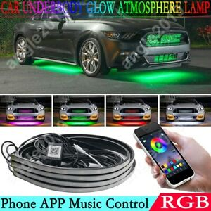 Rgb Led App Control Car Underbody Neon Light Atmosphere Lamp Light Waterproof