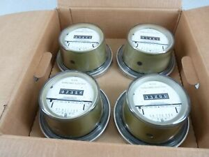 Case Of 4 Sangamo Electric Watthour Meters 76003g 200a 240v Cl200 4 Lug Glass 2g