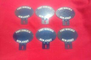 6 Vintage Fort Hancock New Jersey License Plate Toppers Rat Rod