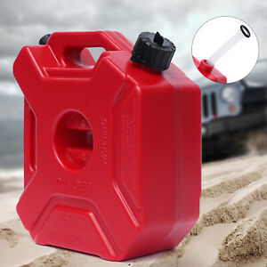 Plastic 5l Jerry Can Gas Diesel Fuel Tank For Car Atv Motorcycle W Mounting Usa