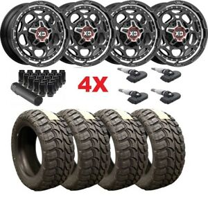 Black Xd Wheels Rims Tires 35 12 50 20 35x12 50r20 Mud F 150