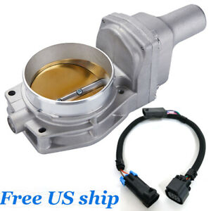 90mm Drive By Wire Throttle Body With Harness Wire For 12605109 Gold Ls3 Ls7 L99