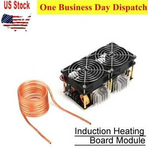 12v 48v 1800w Zvs Induction Heating Board Module Flyback Driver Heater With Coil