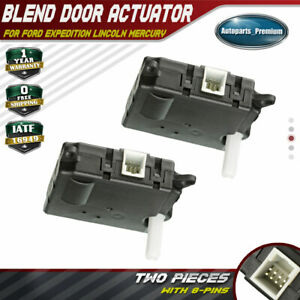 2x Hvac Heater Blend Air Door Auxiliary Actuator For Ford Expedition 2007 2017