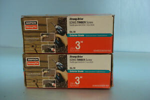 Lot Of 2 Boxes Simpson Strong Tie Sdws22300db 50 3 inch Sdws Timber Screw