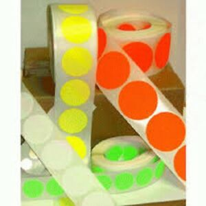 1 2 1 Inch 1000 Dot Stickers Rolls Round Labels Circles 13mm For Organizing