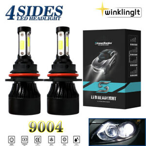 4 sides 9004 Hb1 Car Led Headlight Bulbs Conversion Kit High Low Dual Beam 6000k