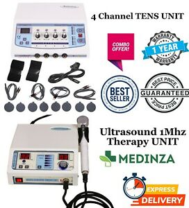 Combo Ultrasound 1 Mhz Therapy Machine 4 Channel Electrotherapy Pain Relief Unit