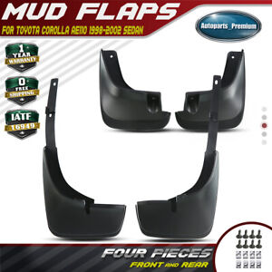 Splash Guards Mud Flaps Molded For Toyota Corolla 1998 2002 Front Rear Set Of 4