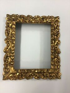 Antique Hand Carved Frame 14 1 4 X 12 1 4 X 1 3 4 Deep Holds 8 X 10