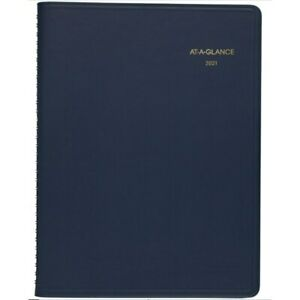 At a glance Weekly 13 month Planner 8 1 4 X 11 Navy 7095020