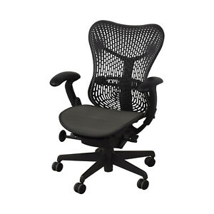 Authentic Herman Miller Mirra 1 Task Chair Grey Mesh Desk Chair Office Semi Load