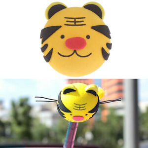 1pc Cute Tiger Car Suv Truck Antenna Pen Topper Aerial Eva Ball Decor Toy Gif Ma
