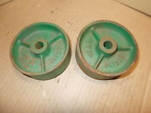 Lot Of 2 Vintage 4 Payson 4w20 Wheels Industrial Cast Iron Steampunk