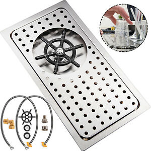 Glass Rinser Drip Tray Cup Washer 12 8 X 6 9 Stainless Steel For Cafe Bar