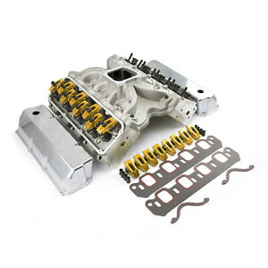 Ford 302 351c Cleveland Cnc Solid R Cylinder Head Top End Engine Combo Kit