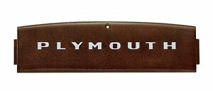1946 1947 1948 Plymouth Top Of The Dash Plastic Name Plate Mopar Special Deluxe