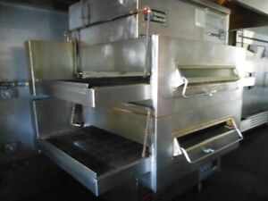 Used Middleby Marshall Ps360 Gas Double Conveyor Pizza Oven
