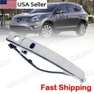 For 2010 2013 Nissan Rogue Car Front Left Outside Chrome Door Handle Smart Entry