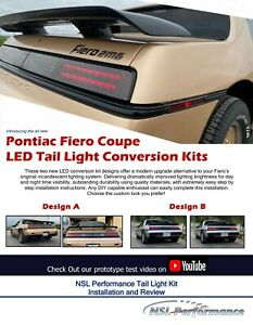 Pontiac Fiero Led Tail Light Conversion Kit Design A plus